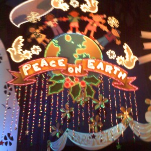 Paige Romero enjoying Peace on Earth at It's a Small World