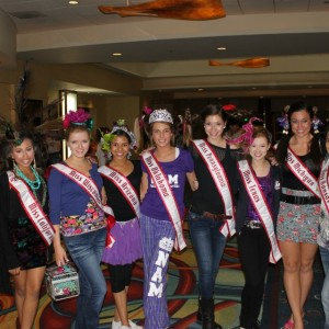 Jr. Teen Queens before Crazy Hair rehearsal!