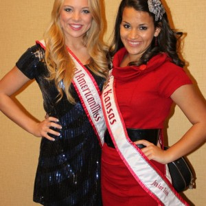 Kimberly Jester the National American Miss Junior Teen '11-'12 and Kendra Leet Miss Kansas Junior Teen 2011