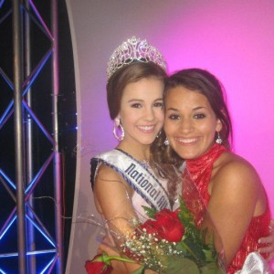 Kendra Leet, Miss Kansas Jr. Teen, with the newly crowned National All-American Miss Junior Teen, Maggie Marx!