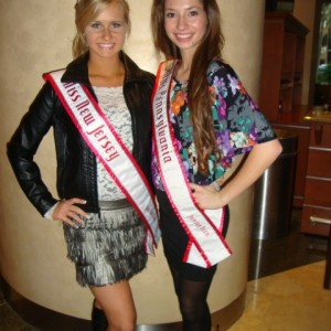 Jr. Teens Miss NJ and Miss PA after the car drawing