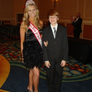 Miss NJ Jr. Teen Christina being escorted by her little brother Sean<3