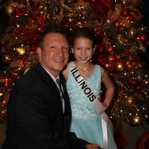 Miss Illinois JPT and her handsome daddy