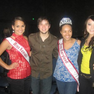Miss Maryland and Miss Kansas Jr Teen with Madi Hill and Nathan Kress from iCarly!