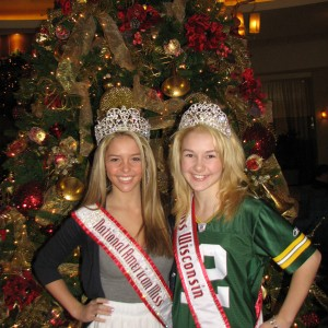 Miss Wisconsin Pre-teen, Brittany Georgia, with National American Miss Pre-teen, Lexi Collins