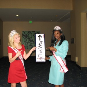Miss Wisconsin Pre-teen, Brittany Georgia, and Miss Missouri Pre-teen, Madison Shead