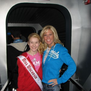 Miss Wisconsin Pre-teen, Brittany Georgia and her mom, Jacque Georgia going on Space Mountain