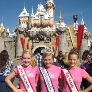 Miss Wisconsin & Miss Kansas Pre-teens with National All-American Miss Pre-teen