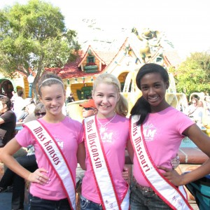 Miss Kansas, Miss Wisconsin, and Miss Missouri Pre-teens at Disneyland!