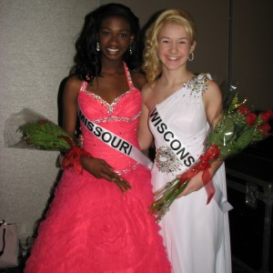 Miss Missouri Pre-teen, Madison Shead and Miss Wisconsin Pre-teen, Brittany Georgia