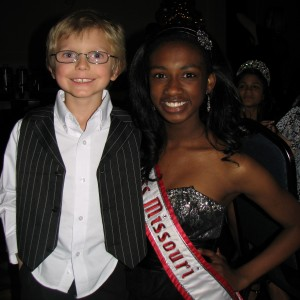 Miss Missouri, Madison Shead, and Miss Wisconsin Pre-teen Brittany Georgia's little brother - Austyn :)