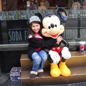Pre-Teen Cassandra with Mickey