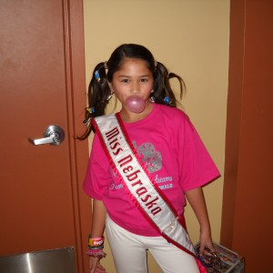 What's gum wrappers in the hair without bubble gum - Miss Nebraska Pre-Teen Cassandra Salas
