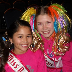 Crazy hair for crazy girls - Miss Nebraska and Miss Iowa Pre-Teen's