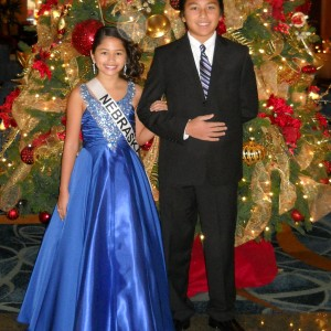 Miss Nebraska Pre-Teen Cassandra and her brother Jesse