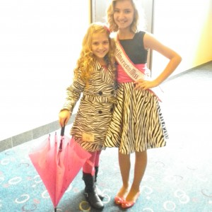 Jr Pre Teen PA Queen Debbie with National Queen Jordan before casual wear