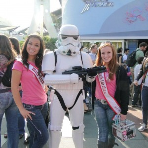 NAM SC and Utah Jr. Teen Queens with a Stormtrooper