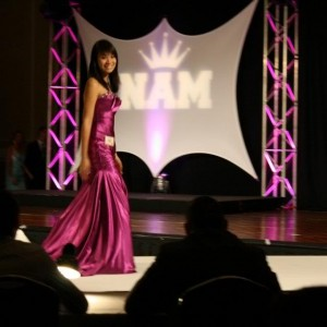 National Cover Miss Megan Viola-Vu during the formal wear competition