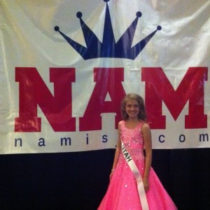 Miss Utah Preteen Rachel Wright just after the formal wear competition.