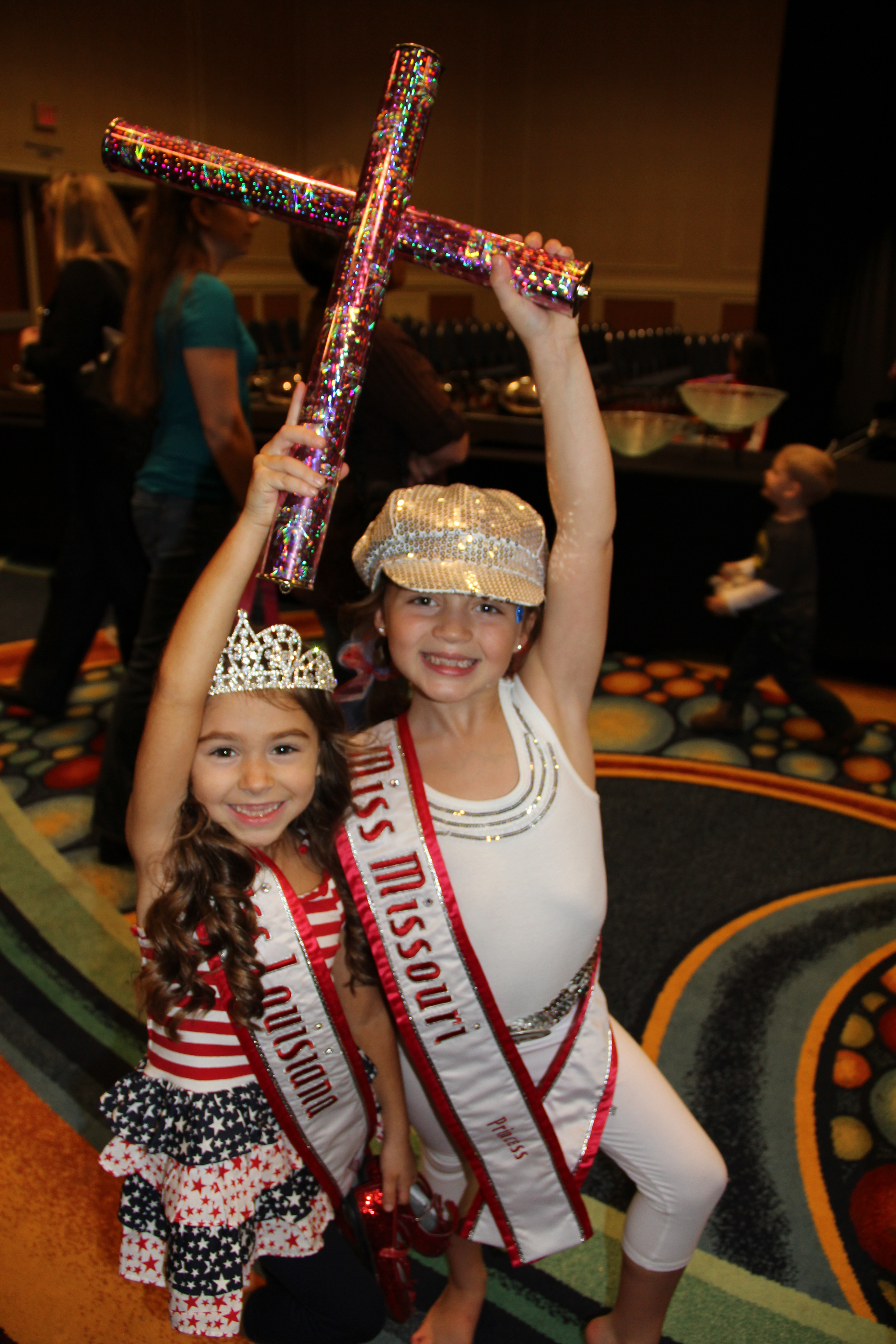Missouri and Louisiana Princess Queens LOVE spirit sticks!