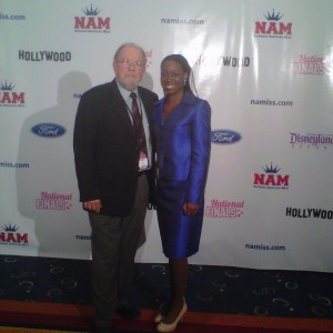 Autumn Cooke posing with Ken Maples, State and National Director