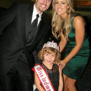 Miss Indiana with her State Directors Brian and Megan Cournoyer