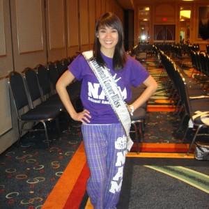 National Cover Miss Megan Viola-Vu at the pajama themed rehearsal