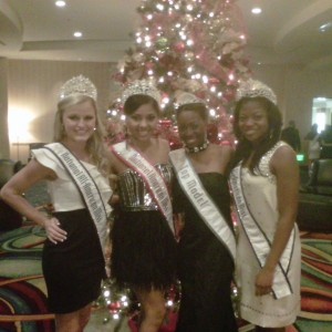 Autumn Cooke posing with the National Queens