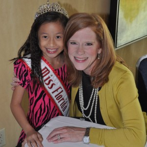 Miss Florida with Kathleen Mayes