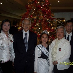 Justine Huang with Family