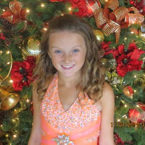 Kelsie Fisher Formal Gown by Christmas Tree