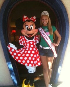 Miss Virginia Pre-Teen with Minnie Mouse!