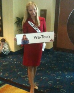 2012.Miss Virginia Pre-Teen after interview.