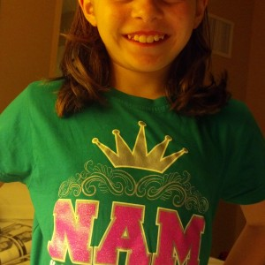 Madison Scheideler styling in my NAM shirt