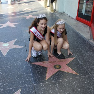 Miss NY and PA on the walk of fame!