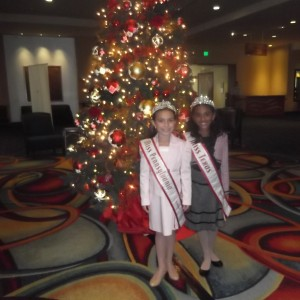 Princess PA and Texas In front of Christmas Tree 2012