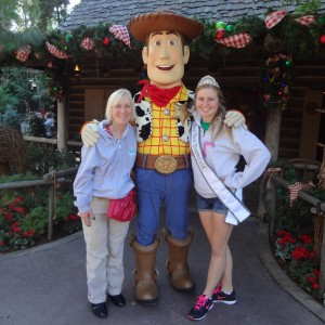Natasha Dabrowski of Michigan with her Mother and Woody at Disney