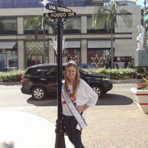 Natasha Dabrowski of Michigan on Rodeo Drive during the Hollywood Tour!