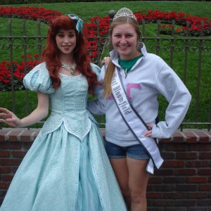 Natasha Dabrowski of Michigan with Disney Princess Ariel at DIsney