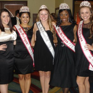 Natasha Dabrowski of Michigan with other Michigan Queens and City Queens!