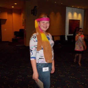 Illinois State Ambassador (Pre-Teen) Bridget Dunn ready to party back to the 1970's!