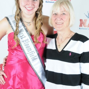 Natasha Dabrowski of Michigan in Formal Wear with her mother!