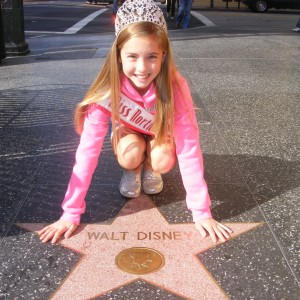 Hannah Gold NC Pre-Teen with Walt Disney's Star on Hollywood Walk of Fame