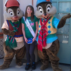 Brittney with her fav Chip n Dale 2012