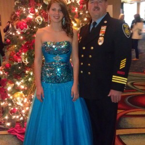 Brittney and Dad before Jr. Teen Formal Wear
