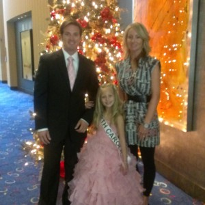 Miss North Carolina Princess Faith Anne Yeley and family before her evening gown performance