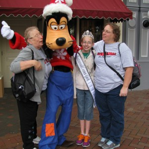 Grandma, Goofy, Rachel, and Mom