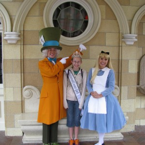 Alice and Mad Hatter with Rachel