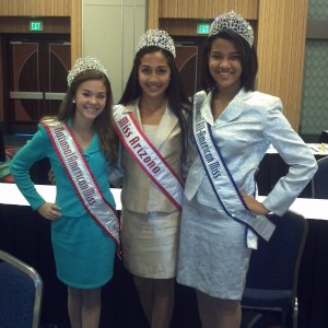 Gabrielle Arcilla with preteen national queens Regan Spoltman and shereen pimentel