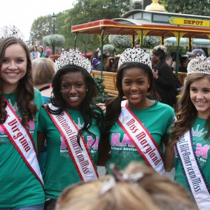 Jr. Teen Team Confidence with their National Queens at Disney